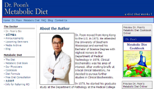 Dr. Poon Metabolic Diet