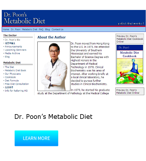 Dr. Poon's Metabolic Diet