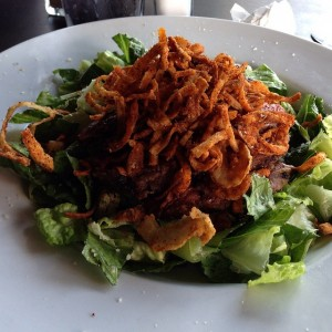 Roast Beef Salad with Crispy Onions