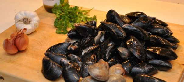 low carb clams & mussels