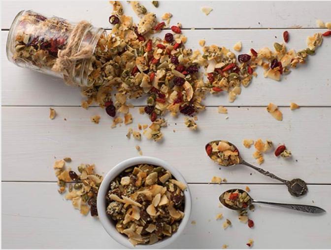 Enjoy yummy and keto compliant granola!